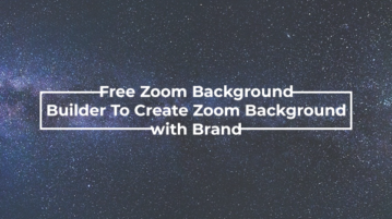 Zoom Background Builder for creating virtual background with logo