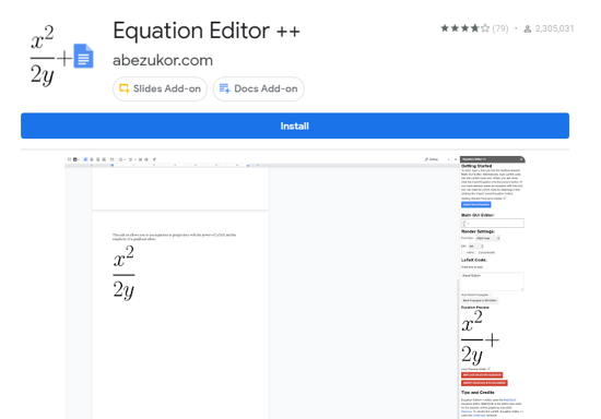 Equation Editor ++