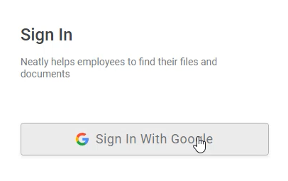 Sign up with Google ID