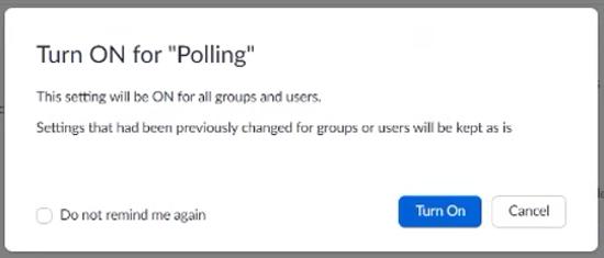 Turn on Polls