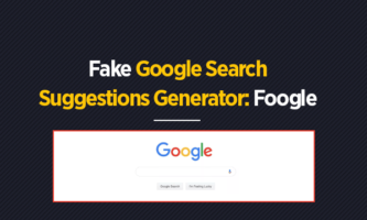 Fake Google Search Suggestions Generator: Foogle