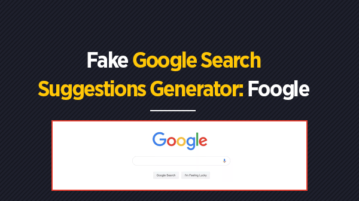 Fake Google Search Suggestions Generator