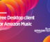Free Desktop client for Amazon Music