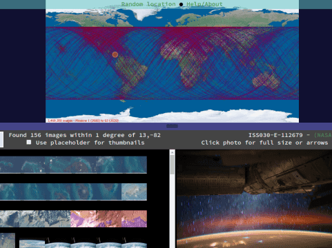 ISS Photo Explorer UI