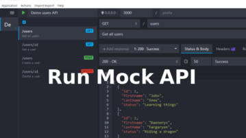 Run Mock API locally with this free software