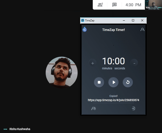 Add A Shared Timer to video meetings