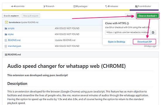 whatspp audio message speed change