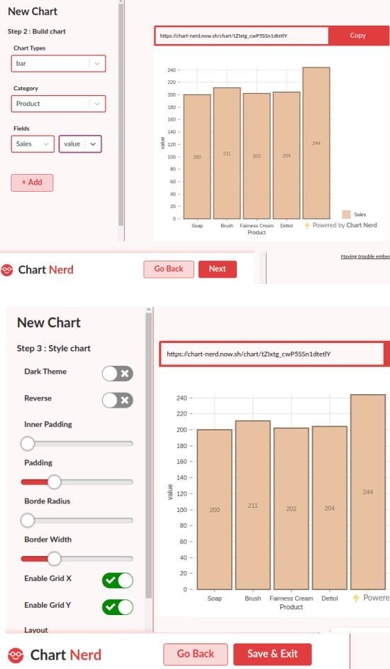 chart customize