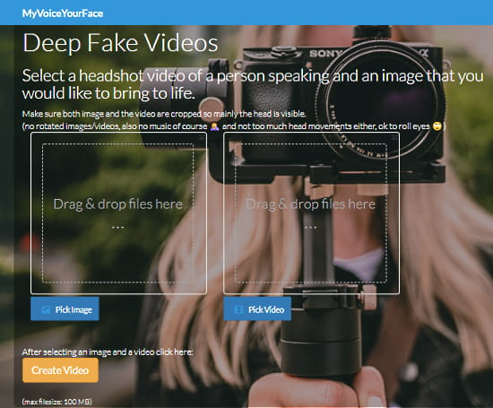 Create a Deep Fake Video from Any Image Free
