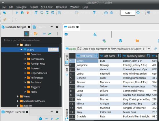 dropbase sql editor database