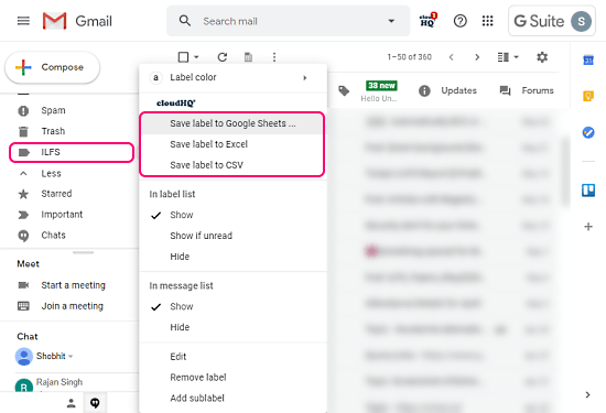 Automatically Export Gmail Emails to Excel