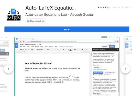 Auto-LaTex Equations