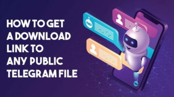 get telegram public file link