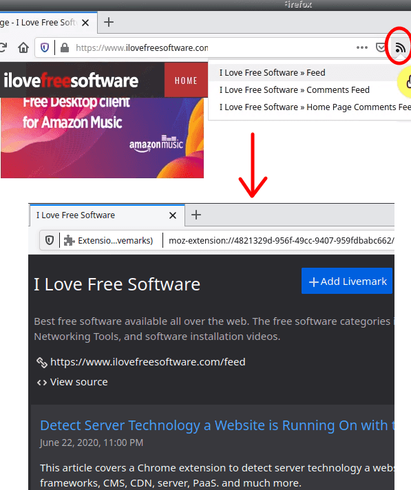 livemarks in action