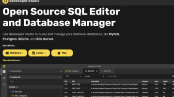 open source databse manager sql editor