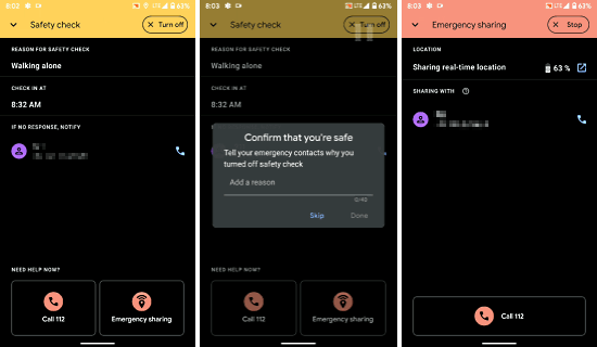 personal safety app with emergency sharing