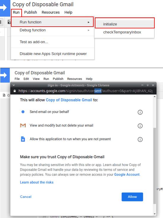 run review google apps script