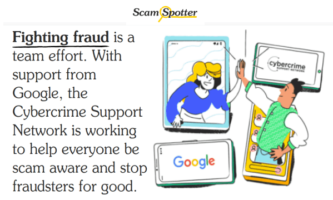 Scam Spotter by Google to Help People Avoid Scams