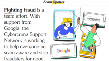 scam spotter by google to help people avoid online scams
