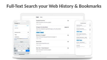 Search Browser History by Webpage Text, Tags, Annotations