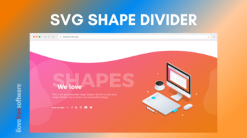 Create SVG Shape Dividers For Web Designs, Get HTML, CSS Code