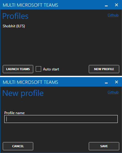 how to use multiple ms teams accounts