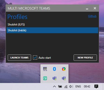 run multiple instances of microsoft teams