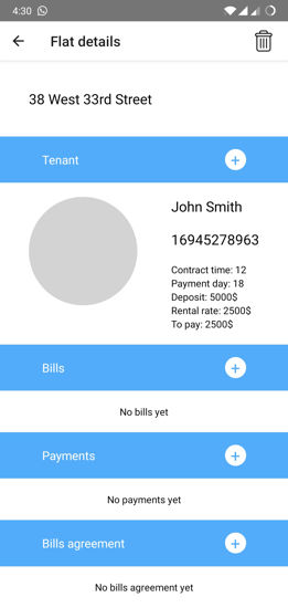 Update the payment details