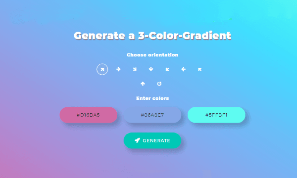 Generate 3-Color Gradient Online with this Free Website