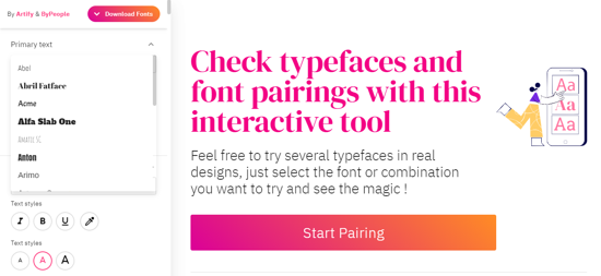 Font Pairing By People