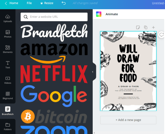Fetch Company Logos in Canva from Brandfetch