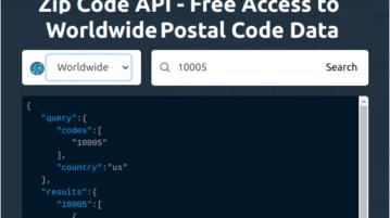 Free Zip Code API