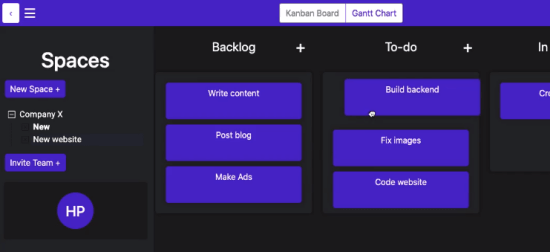 Nested Kanban Board with Cards as Another Kanban Board