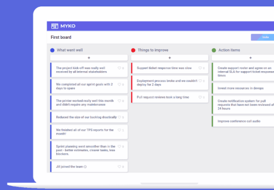 Online Agile Retrospective Tool to get Feedback from Team