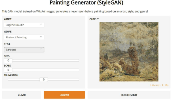 PAINTING GENERATOR IN ACTION