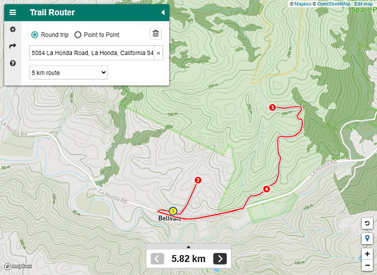 discover trial track for running