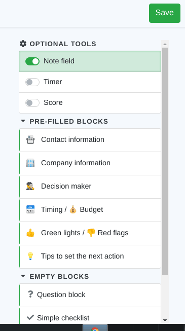 free sales script generator blocks