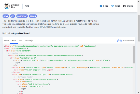 Free Bootstrap Code Snippets
