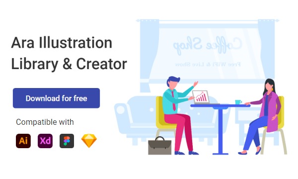 Download Free Illustration Library for Figma, Sketch, Adobe Xd