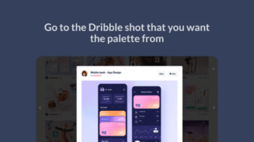 generate color palette from dribble Chrome