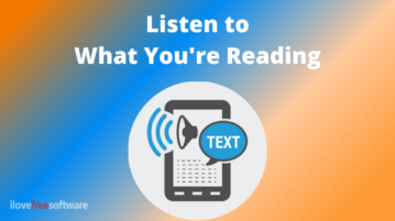 Listen to What You're Reading with This Free Speed Reader Tool