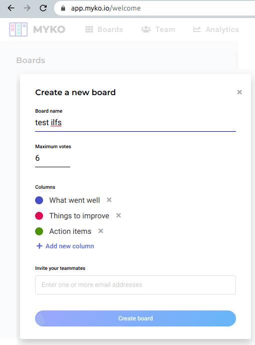 myko create board