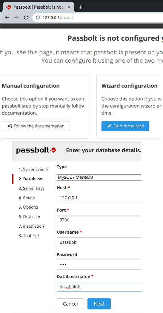 passbolt server config