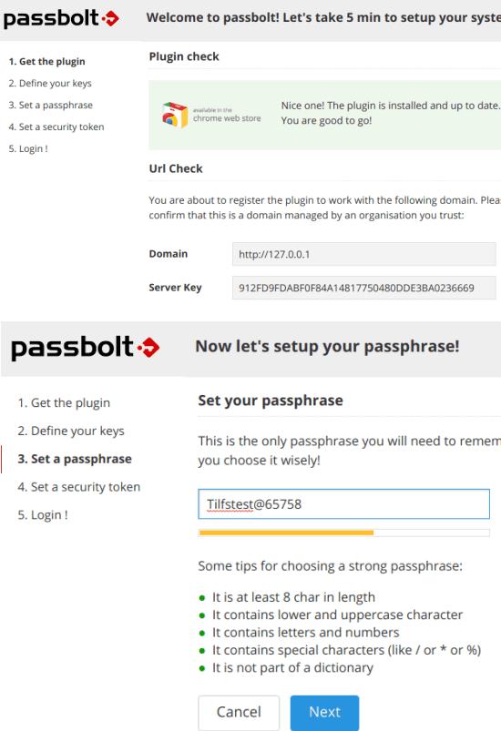 passbolt server key and phrase