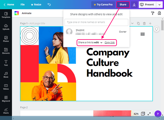 collaborate in canva