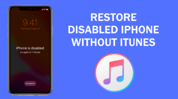 How to Restore Disabled iPhone without iTunes?