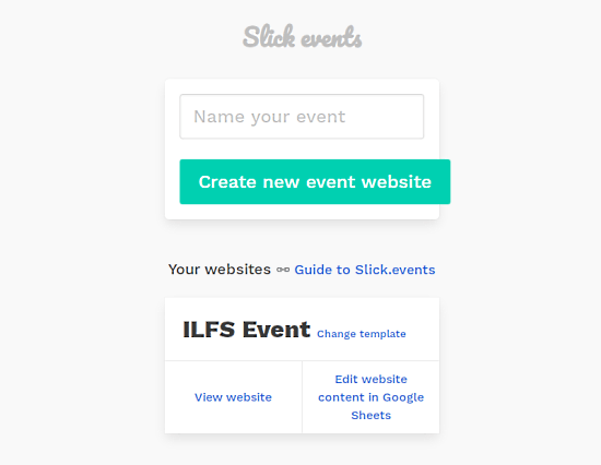 create event website to sell tickets