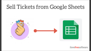 Sell Event Tickets from Google Sheets Free without Commission