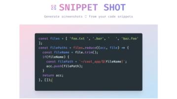 Generate Screenshot of Code Snippets: Snippet Shot