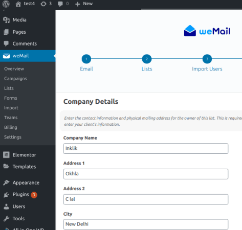 weMail Company Details